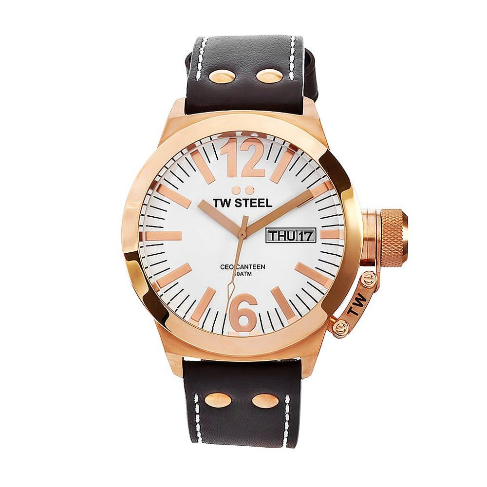 TW STEEL CEO Canteen Rose Gold Gents Watch CE1017
